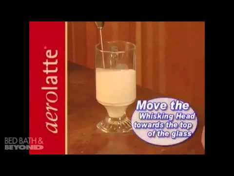 Aerolatte Steam Free Milk Frother At Bed Bath Beyond Youtube