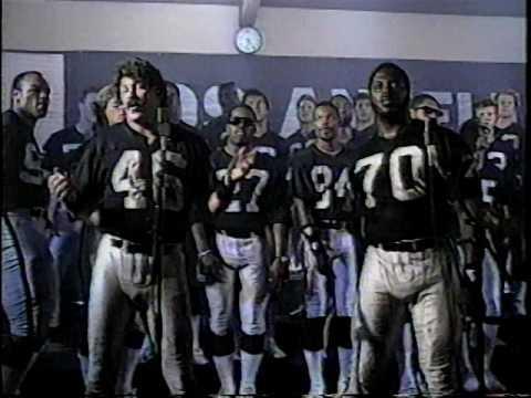 Silver & Black Attack - L.A. Raiders Team Song (1986)