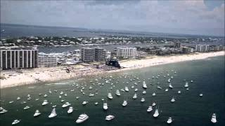 Aerial footage of Kenny Chesney's Flora-Bama-Jama: Aug. 16, 2014