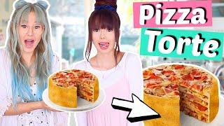 Wir backen eine PIZZA TORTE 😮 einfach irre 🤦🏻♀️ Rezept DIY | ViktoriaSarina