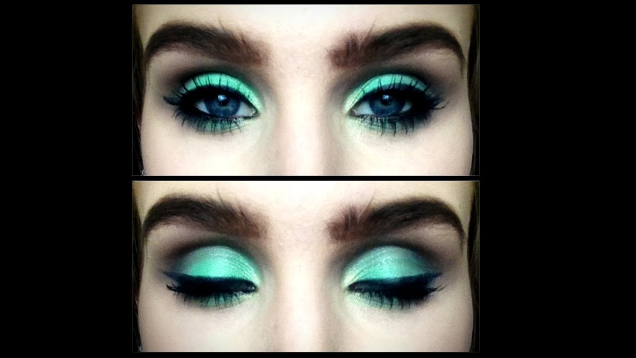 Sea Green And Warm Brown Smokey Eye Makeup Tutorial