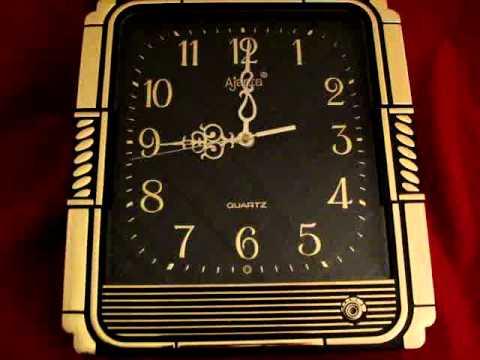 VINTAGE India Art Deco Ajanta Clock With Music, Daylight Sensor, Volume Control  1