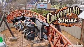 Carowinds Copperhead Strike First Test Footage! Including a JoJo Roll POV!