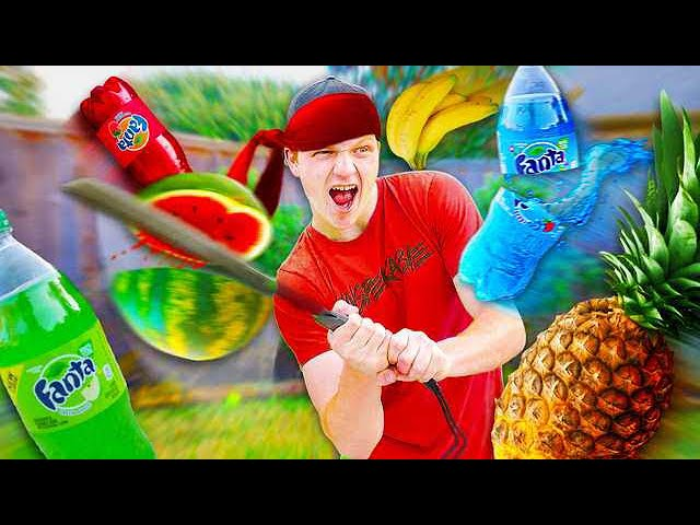 REAL LIFE FRUIT NINJA CHALLENGE!