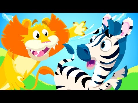 Little Zebra lost his Stripes! | Animal Songs | by Little An