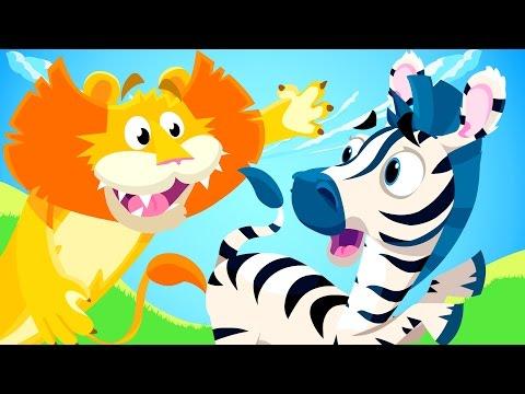 Little Zebra lost his Stripes! | Animal Songs | by Little Angel