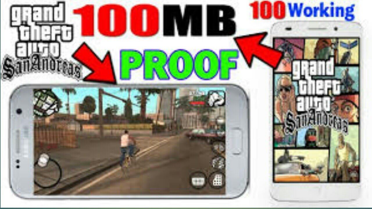 (100MB)GTA SAN ANDREAS LITE ON ANY ANDROID ALL GPU HIGHLY COMPRESSED(HINDI)  by Lucky Zone