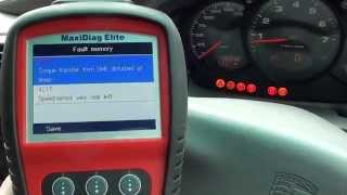 We Diagnose A Porsche ABS Warning Dash Lamp & Reset It Autel MD802