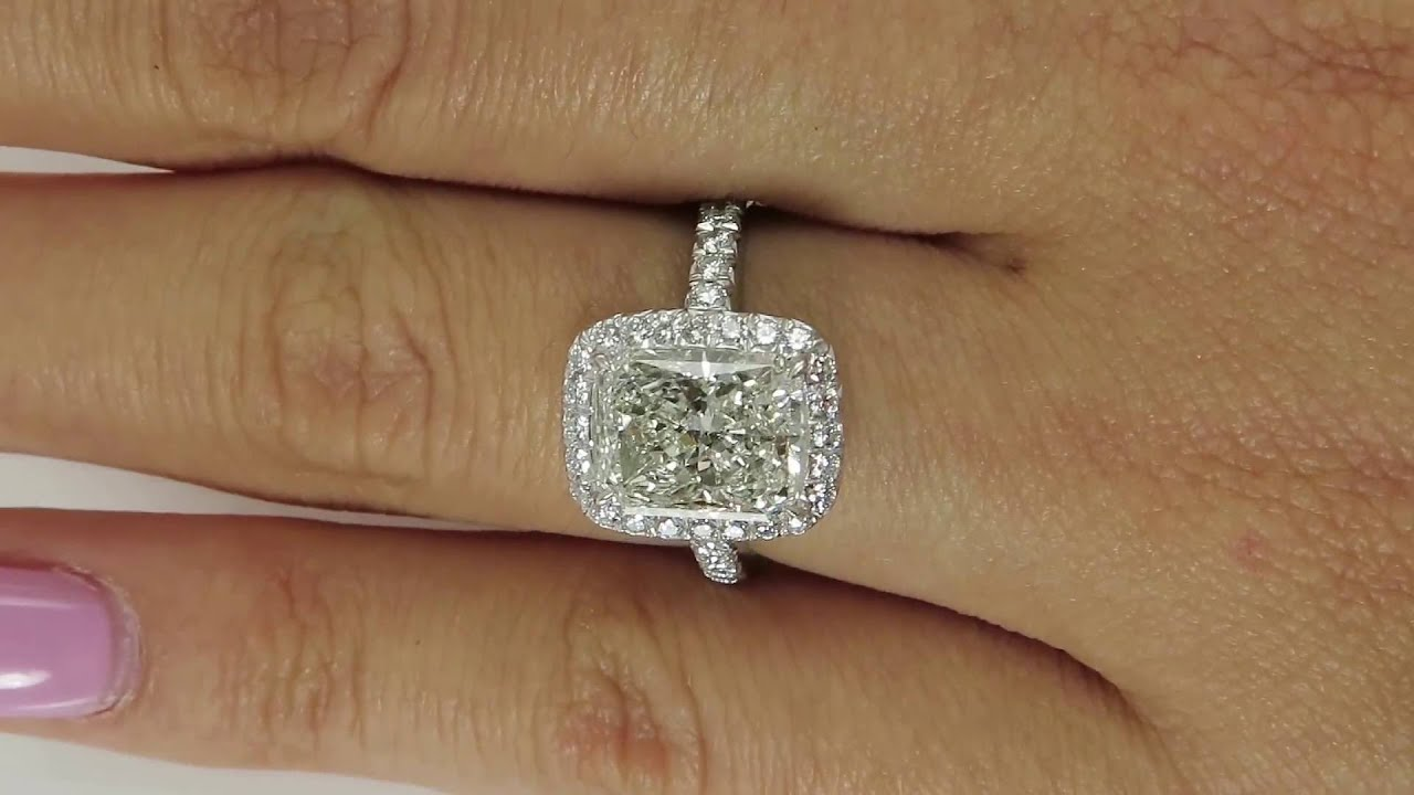 3 08ct Estate Vintage Radiant Cut Diamond EGL USA Engagement
