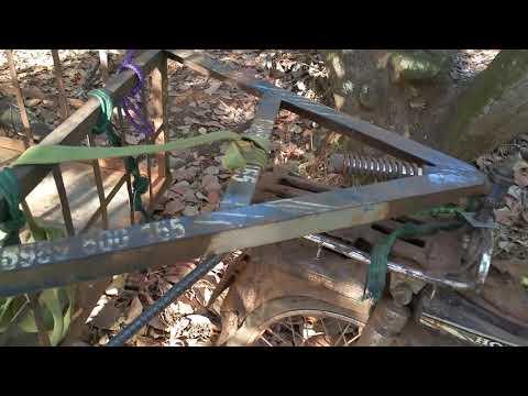 Xe Máy Dream Độ Rơ Moóc Kéo Khủng Không Thua Kém Xe Công Nông 2 Cầu (Rural Vietnam)