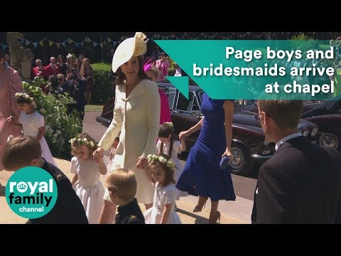 Prince George and Princess Charlotte among page boys and bridesmaids