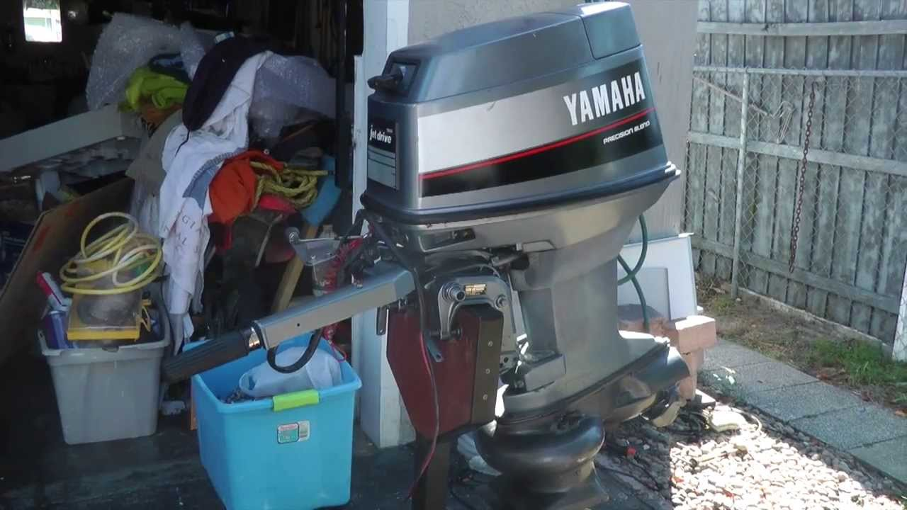 Yamaha 40hp tiller outboard motor jet drive youtube for Outboard motors for sale in wisconsin
