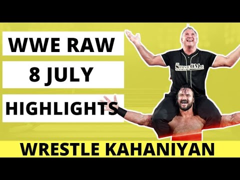 WWE RAW highlights 8 july 2019 today live | Roman Reigns Drew McIntyre Monday Night Raw Results