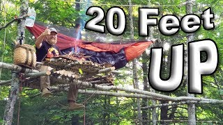 Bear Safe Hammocking 20 feet High  Up A Tree Solo Overnight (87 Days Ep. 32)
