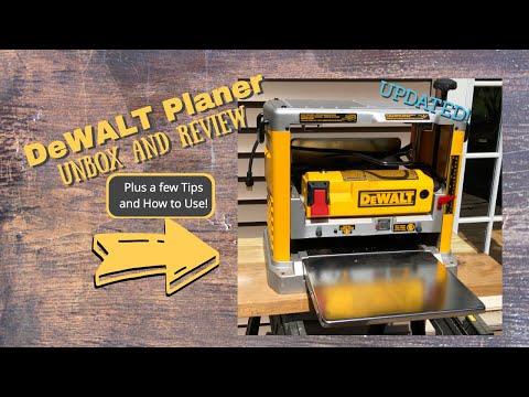 Using your DeWALT DW734 Planer