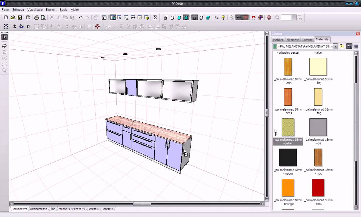 Pro100 furniture and interior design software youtube for Furniture building software