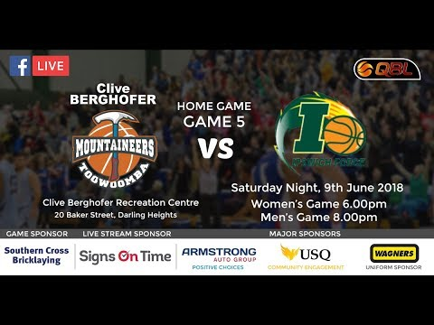 USQ Live Stream QBL Home Game 5 - Mountaineers vs Ipswich Force