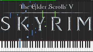 The Dragonborn Comes - Skyrim [Piano Tutorial] // Nadav Schneider