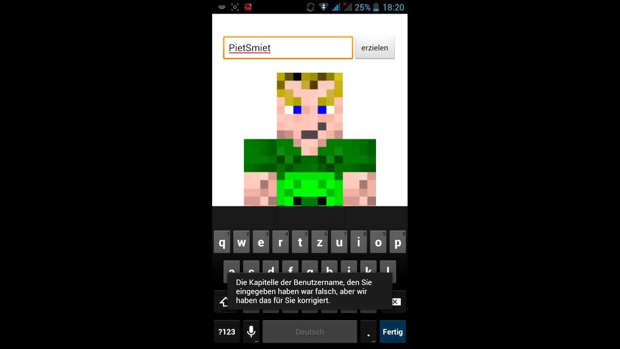 Minecraft PE Skin Erstellen YouTube - Skin fur minecraft pe erstellen