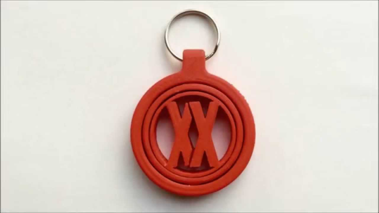 3d printing timelapse keychain youtube