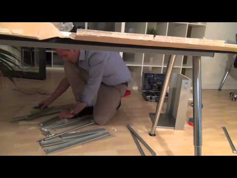 Schreibtisch ikea galant  The IKEA Galant Container Challenge - YouTube