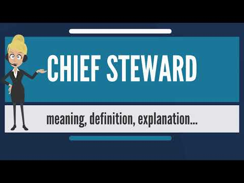 What is CHIEF STEWARD? What does CHIEF STEWARD mean? CHIEF STEWARD meaning & explanation