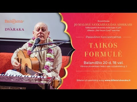 """PEACE FORMULA"" concert by Sankarshan Das Adhikari in Vilnius, Lithuania"
