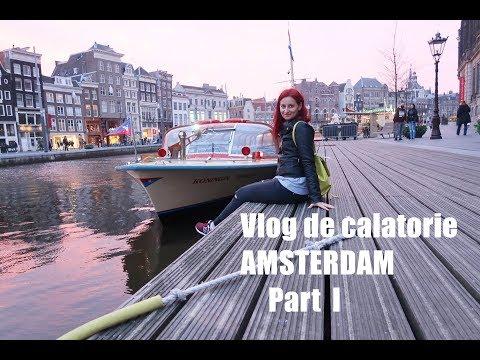 Vlog de calatorie||Amsterdam|De Bedstee Hotel, plimbare in centru, canale si Red Light District||#1