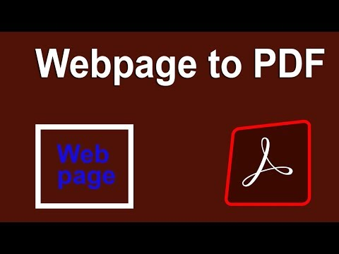 How To Convert Webpage To PDF Document In Adobe Acrobat Pro DC
