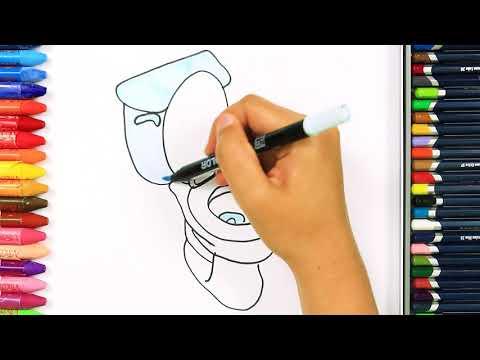 Как рисовать унитаз