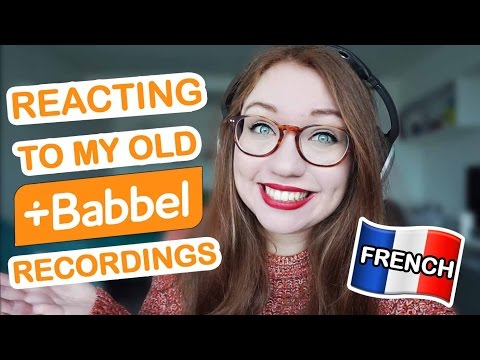 Reacting to my old Babbel French recordings! - Beginner's progress during 3 months