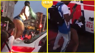Twerk on ambulance as it tries to get through Juneteenth crowd to reach shooting victims in Oakland