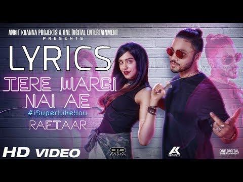 Raftaar Teri Wargi Nai Ae LYRICS | Adah Sharma | Latest Punjabi Song 2017