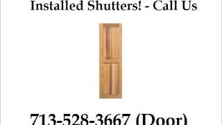 Exterior Bahama Shutters Installed Houston - 713-528-3667 (door) - Houston Door Solutions