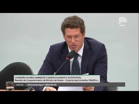 Ministro Ricardo Salles e deputados batem boca em comissão da Câmara