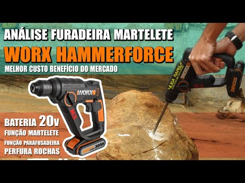 Furadeira Martelete à bateria Worx Hammer Force H3