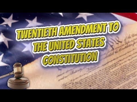 Twentieth Amendment to the United States Constitution (USA Constitution)⚖️📜🍔⚾🙈👺🤡😬✅
