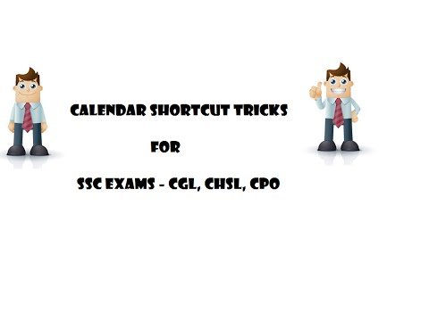 Calendar Shortcut Tricks, Tricks for Finding the day of any given Date, SSC CGL Reasoning