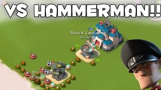 NEW MAX MACHINE GUN & SHOCK LAUNCHER vs HAMMERMAN! | Boom Beach