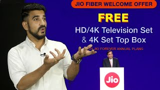 Jio fiber plan launched with free calling: Offers free 4K LED TV & more