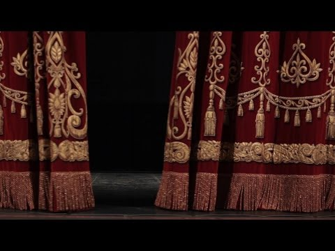 theater curtain opens and close