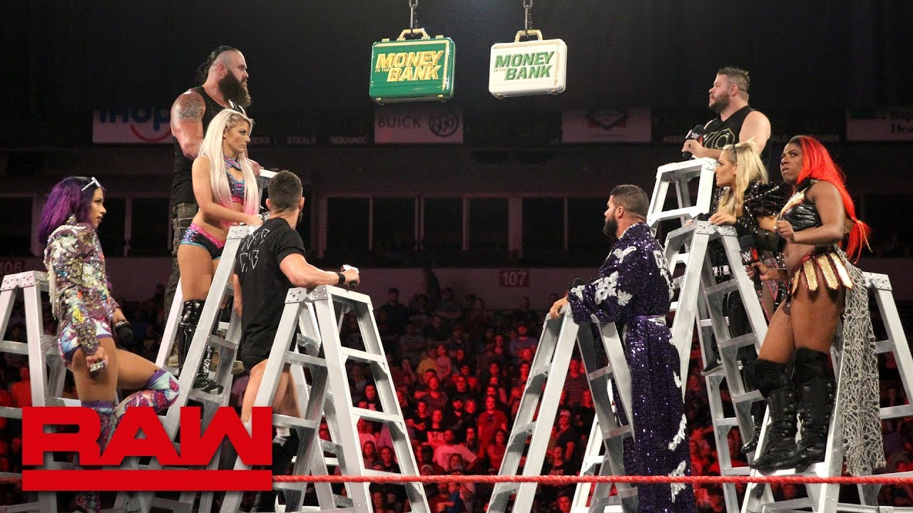 Raw S Money In The Bank Ladder Match Competitors Sound Off Raw June 11 2018 Youtube