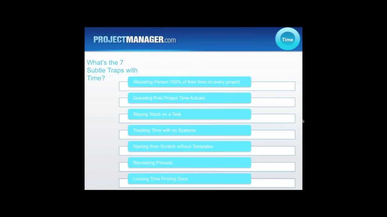 Managing Time 1 Hour Free Project Management Training Youtube