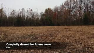 Mid state land clearing before and afters