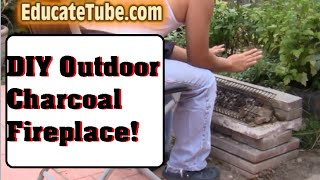 How To Make An Outdoor Charcoal Fireplace The Easy Way Weekend Diy Project