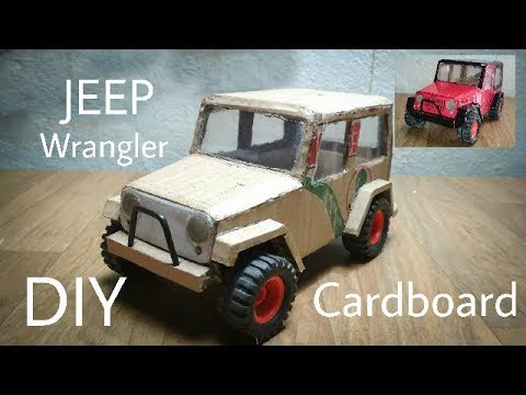 how to make a safari jeep out of cardboard