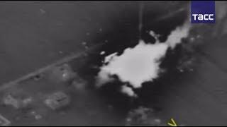 Кадры ударов ВС России по боевикам в Сирии