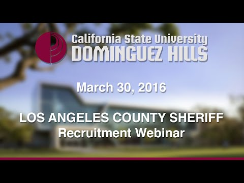 LA County Sheriff Recruitment Webinar and Q&A
