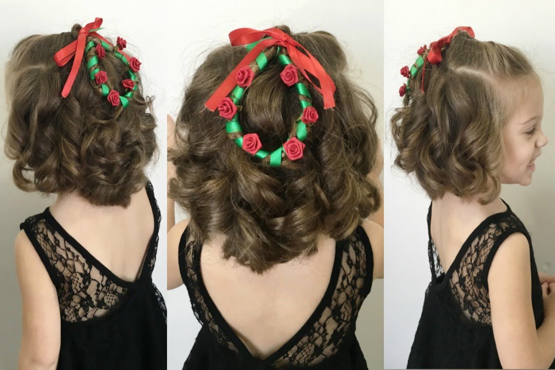 Christmas Hairstyles For Long Hair.Christmas Wreath Hairstyle For Short Hair 12 Braids Of Christmas