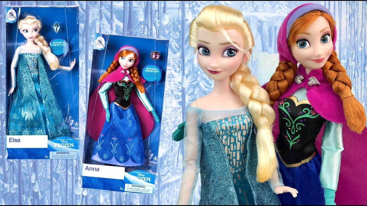 ab3248e506302 Frozen: Anna & Elsa 2018 Classic Disney Store dolls REVIEW - YouTube